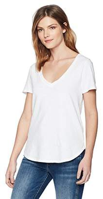 Three Dots Women's Sueded slub mid Loose Shirt