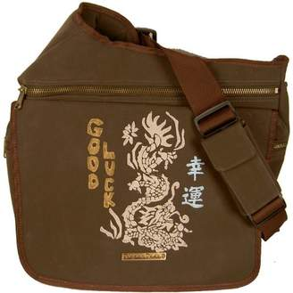 Diaper Dude Faux Suede Good Luck Bag (Brown)