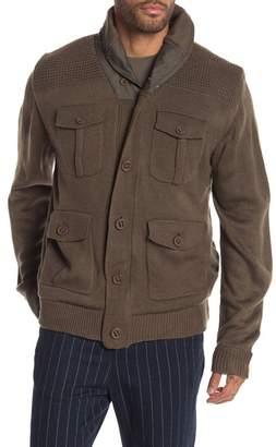 Weatherproof Faux Shearling Lined Military Cardigan