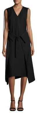 Derek Lam 10 Crosby Wrap Front Dress $595 thestylecure.com