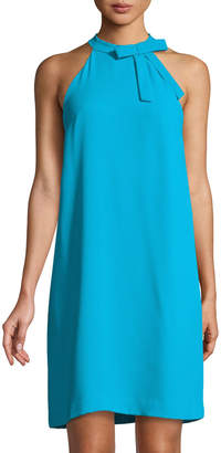 Cynthia Steffe Cece By Halter Neck-Bow Sleeveless Shift Dress