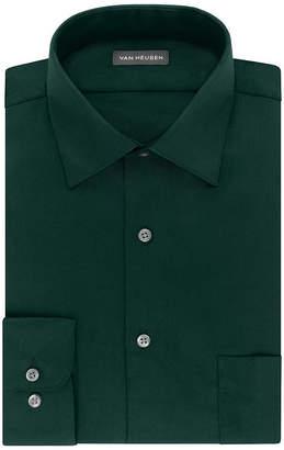 Van Heusen Lux Sateen Stretch B&T Long Sleeve Dress Shirt