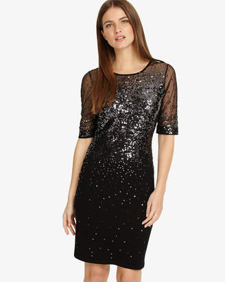 Phase Eight Orlena Ombre Sequin Knit Dress