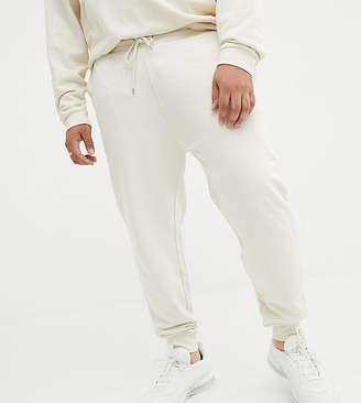 Asos Design DESIGN Plus skinny sweatpants in ecru