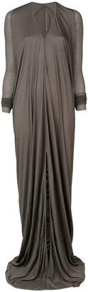 Rick Owens Lilies gathered front maxi dress
