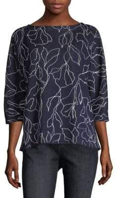 Lafayette 148 New York Jacquard Chain Sweater