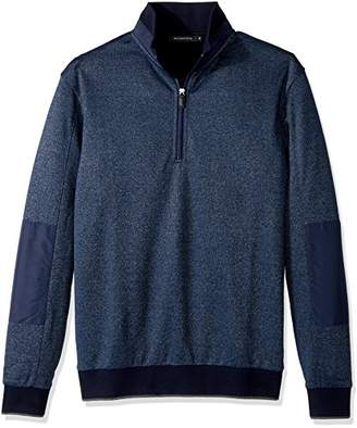 Bugatchi Men's Cotton Long Sleeve Half Zip Mock Neck Knits