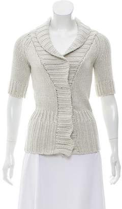 Theory Knit Short Sleeve Cardigan