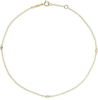 Lee Grace 14-karat Gold, Sapphire And Emerald Anklet