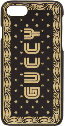 Gucci Black Guccy Sega Logo iPhone 7 Case