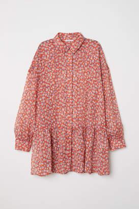 H&M Chiffon Blouse - Orange