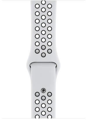 Apple 44mm Pure Platinum/Black NikeSportBand - S/M&M/L