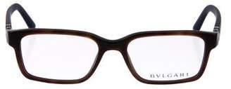Bvlgari Matte Rectangular Eyeglasses
