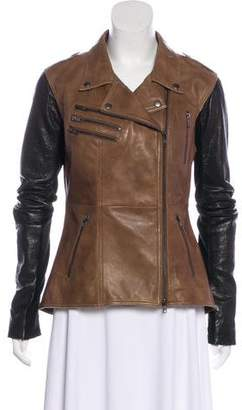 Veda Leather Casual Jacket