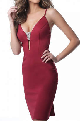 Jovani Fitted Jersey Dress