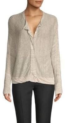 Inhabit Buttoned Linen Cardigan
