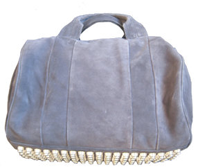 Alexander Wang Rocco Mini Duffel in Navy Suede