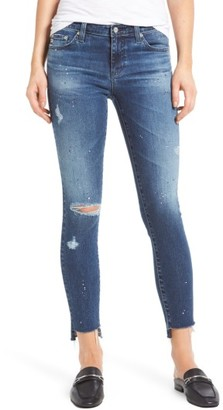 Women's Ag The Legging Step Hem Ankle Skinny Jeans $245 thestylecure.com