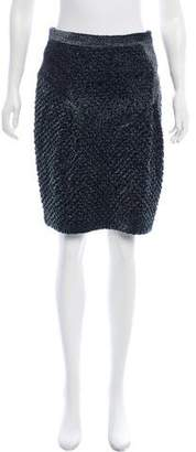 Burberry Textured Knee-Length Skirt