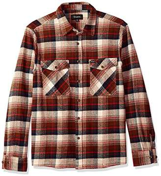 Brixton Men's Hayes Relaxed Fit Long Sleeve Flannel Shirt