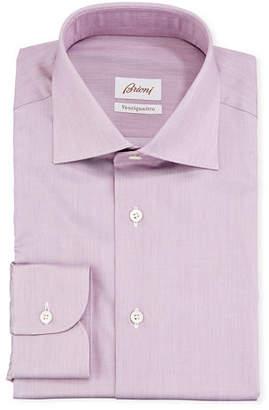 Brioni Ventiquattro Cotton Chambray Dress Shirt