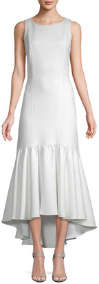 story. White Amani Frill Hem Dress