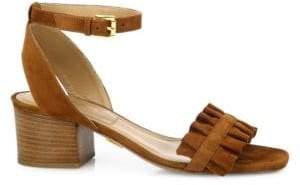 Michael Kors Monroe Suede Ankle-Strap Sandals