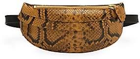 Avec La Troupe Women's Python Embossed Belt Bag