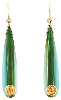 Mark Davis Women's Bakelite & Citrine Drop Earrings