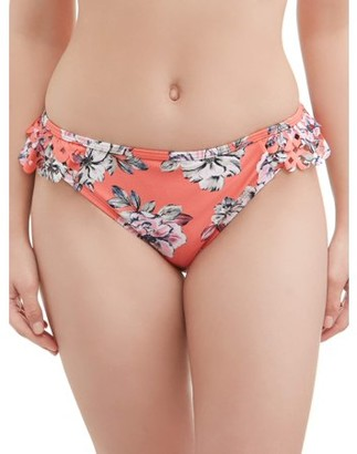 Time and Tru Women's Beach Blooms Scoop Swimsuit Bottom