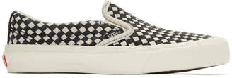 Vans Black and White Taka Hayashi Edition Slip-On 66 LX Sneakers