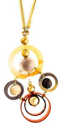 Marni Horn & Resin Spheres Necklace