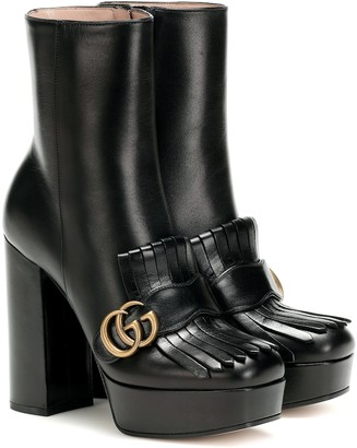 Gucci Platform leather ankle boots