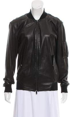 MM6 MAISON MARGIELA MM6 by Maison Martin Margiela Leather Zip-Up Jacket