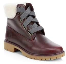 Timberland Jaybe Shearling-Lined Leather Boots