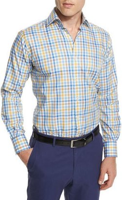 Peter Millar Melange Check Long-Sleeve Sport Shirt $145 thestylecure.com
