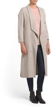Long Draped Coat