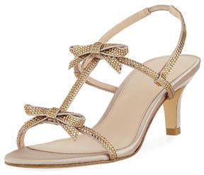 Pelle Moda Berta Low-Heel Satin Evening Sandal