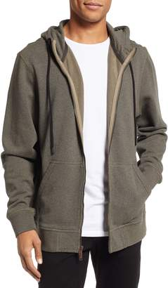 Hudson Jeans Regular Fit Hooded Zip Sweatshirt
