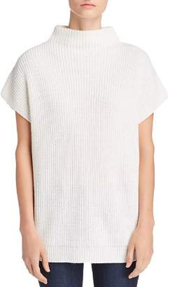 Kenneth Cole Short-Sleeve Funnel-Neck Chunky Sweater