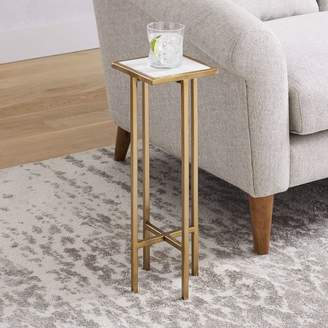 west elm Marble + Brass Drink Table - Square