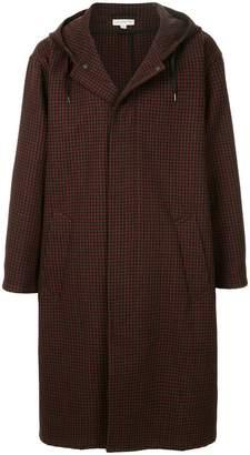 TOMORROWLAND grid print hooded coat