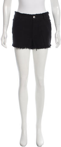 Alexander Wang T by Alexander Wang Frayed Mini Shorts