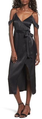 Women's Bardot Leah Satin Midi Dress $109 thestylecure.com