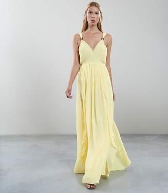 Reiss CARLOTTA RUFFLE DETAIL MAXI DRESS Yellow
