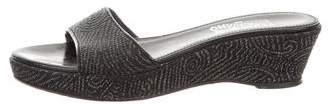 Salvatore Ferragamo Woven Platform Sandals