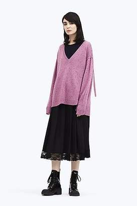 CONTEMPORARY Oversize Asymmetric V-Neck Sweater