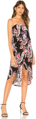 MinkPink Wild Hibiscus Strapless Dress
