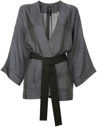 Zero Maria Cornejo diagonal stripe kimono blazer