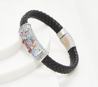 Kirks Folly Rainbow Bridge Faux Leather Magnetic Bracelet